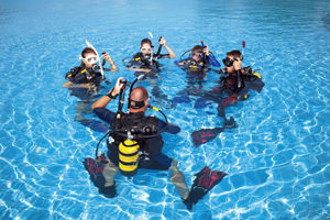 Kurs nurkowania - zajęcia basenowe